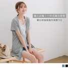 《AB13053》台灣製造.外套式拼接假兩件層次感棉質長版上衣/T恤 OrangeBear