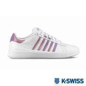 K-SWISS Pershing Court Light SE時尚運動鞋-女-白/紫
