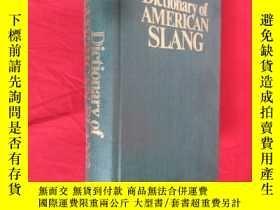 二手書博民逛書店Dictionary罕見of AMERICAN SLANG (Second Supplemented Editio
