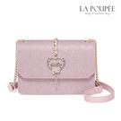 側背包 閃耀甜心愛心彩鑽小方包 2色 -La Poupee樂芙比質感包飾 (預購+好禮)