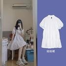 蛋糕裙 2021新款桔梗法式復古小心機學生襯衫裙中長款白色娃娃裝連身裙子 寶貝寶貝計畫 上新