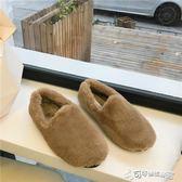 毛絨鞋 南在南方2018秋季新品超火溫柔舒適毛毛懶人平跟一腳蹬毛毛單鞋女 Cocoa