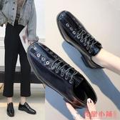 單鞋L小皮鞋I英倫chic馬丁鞋女復古小皮鞋潮學院風復古單鞋女鞋子