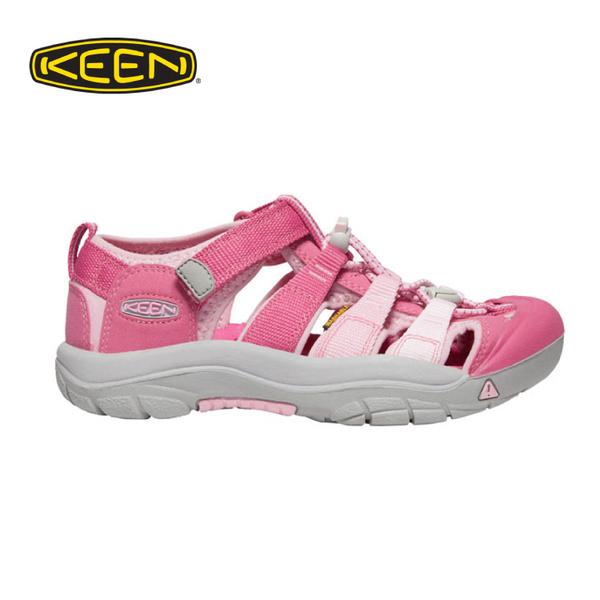【KEEN 美國 童 護趾涼鞋《粉紅》】1021236/織帶涼鞋/快乾/透氣/專利防水織帶/兒童涼鞋