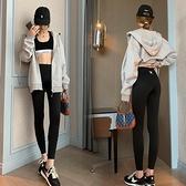 長褲內搭褲緊身褲中大尺碼M-3XL閃光蝴蝶魔法褲高腰收腹3D提臀顯瘦瑜伽褲打底鯊魚皮外穿4F054-3309
