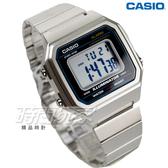 CASIO卡西歐 B650WD-1A 復古文青風大型數字數位電子錶 男錶 防水手錶 銀 B650WD-1ADF