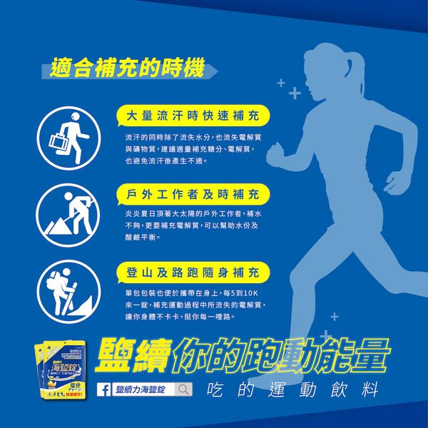 【即期良品】鹽續力 海鹽錠 單包裝 運動鹽糖 鹽錠 馬拉松 三鐵 路跑 登山健走