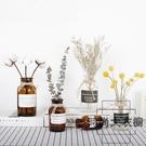 4個套 ins風透明玻璃花瓶北歐客廳裝飾品擺件【時尚大衣櫥】