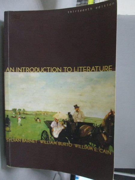 【書寶二手書T2/文學_ZAD】An Introduction to Literature-Fiction_Barnet