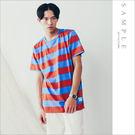 現貨 韓國製 短T 雙色橫紋【TS19011】- SAMPLE