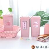 筆筒桌面垃圾桶可愛迷你筆筒裝飾擺件收納桶【淘夢屋】