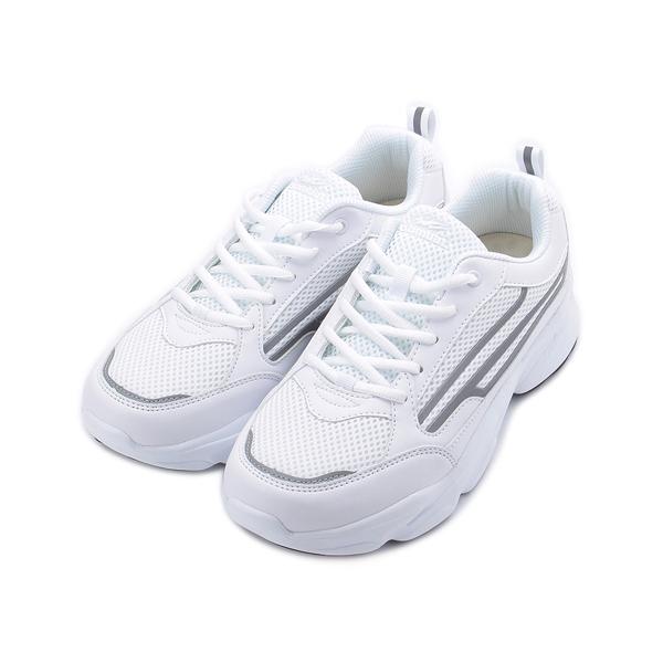 COMBAT 厚底反光運動鞋 白 22567 男鞋 鞋全家福