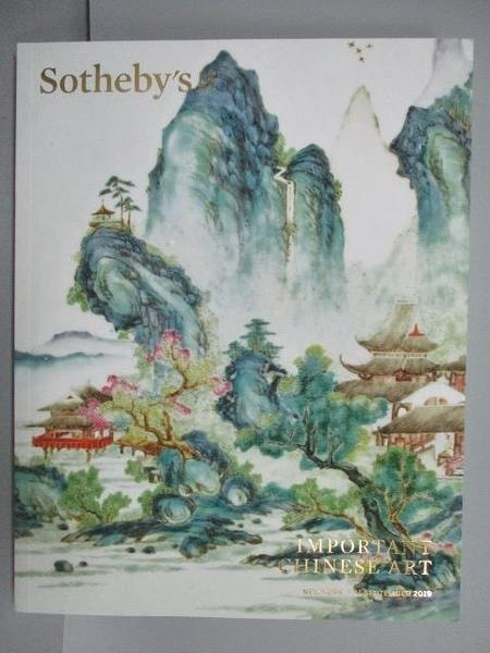 【書寶二手書T1/收藏_PLK】Sotheby s_Important Chinese Art_2019/9/11