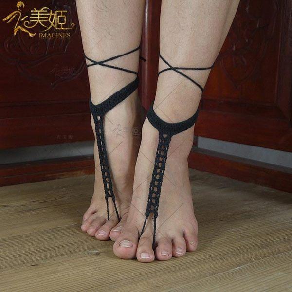 衣美姬♥歐美 熱賣款 腳上編織圖騰 瑜珈 熱舞 沙灘度假 造型必備腳上飾品