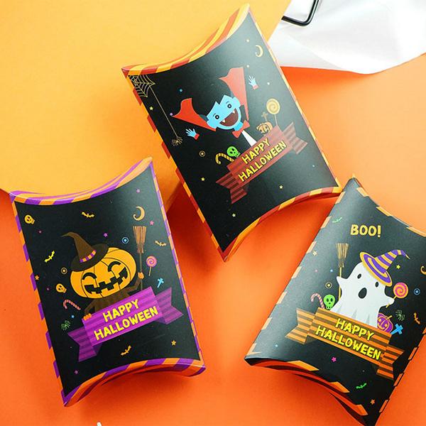 【BlueCat】萬聖節吸血鬼降靈枕頭包裝紙盒 糖果盒