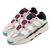 adidas 休閒鞋 Niteball 米白 粉紅 男鞋 女鞋 反光鞋面 運動鞋 復古慢跑鞋 【PUMP306】 FW3317