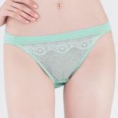 思薇爾-花芷緹舞系列M-XL蕾絲低腰三角內褲(寧靜藍)