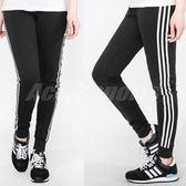 adidas 長褲 D2M Cuff Pants 3-Stripes 薄款 黑白 基本款 三條線 女款 束口褲 縮口褲 黑 白 【PUMP306】 BK2623