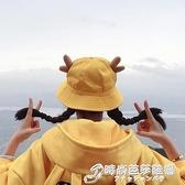 軟妹漁夫帽女可愛日系耳朵盆帽夏天防曬遮陽帽出游親子帽可摺疊 聖誕節全館免運