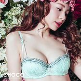 費加洛婚禮.法式刺繡蕾絲性感款(湖水綠) 70A~85D Choco Shop
