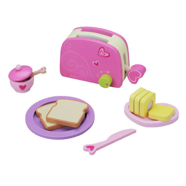 *粉粉寶貝玩具*classic world 德國經典木玩客來喜 家家酒玩具~烤麵包組
