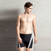 ★奧可那★ 型男灰條紋五分泳褲