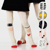 城市女孩造型棉感彈力褲襪 兒童褲襪 包腳褲襪