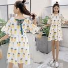 孕婦裝夏裝潮辣媽個性2020新款夏天裙子時尚款夏季上衣孕婦洋裝 依夏嚴選