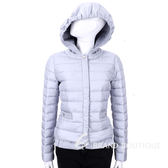 MARELLA 灰藍色縫線拼接釦式外套(帽可拆) 1540377-59