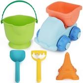 軟膠兒童沙灘玩具車大號鏟子桶套裝寶寶男孩女孩洗澡玩沙挖沙工具 莎拉嘿幼