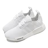 adidas 休閒鞋 NMD_R1 J 白 全白 大童鞋 女鞋 運動鞋 襪套式 【ACS】 FW0431 FW0432