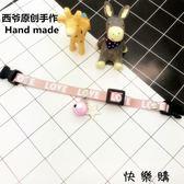 可調節項圈時尚鈴鐺項鍊泰迪貓貓頸飾