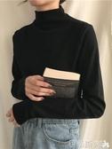 長袖高領T恤高領打底衫上衣女秋冬新款百搭修身顯瘦洋氣黑色內搭 春季特賣