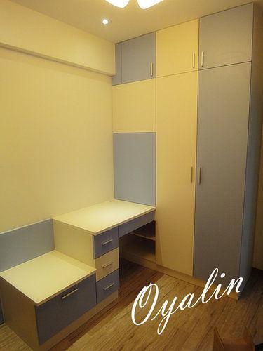 【歐雅 系統家具 】衣櫥櫃結合活動收納椅