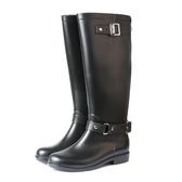 雨靴-TTSNAP英倫部落客-顯瘦時尚拉鍊防水雨靴 黑