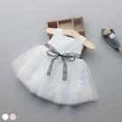 無袖洋裝 女童無袖蕾絲蝴蝶蓬紗裙 S77...
