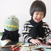 秋冬韓版兒童交叉圍巾針織蝴蝶結加厚親子款毛線編織男女寶寶圍脖