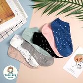 【正韓直送】韓國襪子 簡單好搭小點點短襪 女襪 船型襪 棉襪 生日禮物 韓妞必備 哈囉喬伊 C11