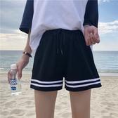 運動短褲 韓版休閒跑步運動闊腿短褲女夏季百搭寬鬆學生ins大碼胖MM潮 麗人印象 免運