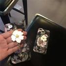 88柑仔店~ 文藝復古油畫花朵 iPhone6 鏈條手機殼蘋果 6s 全包磨砂套硬殻女