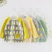 純棉寶寶吃飯圍裙嬰兒圍兜罩衣