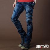 限時8折►BIG TRAIN 水洗超窄小直筒褲-男-中藍