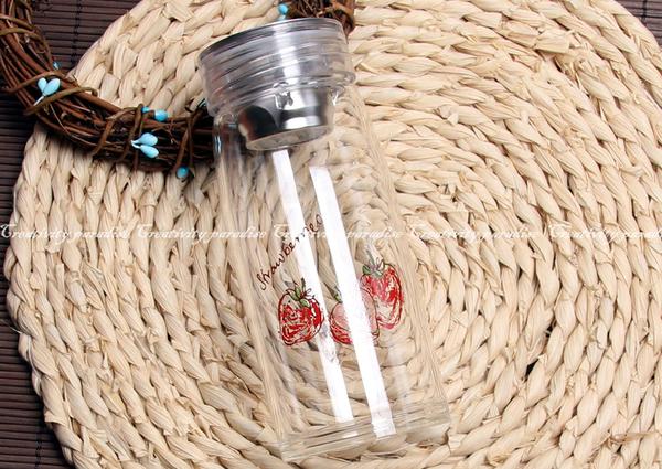 【水果泡茶杯】韓系小清新玻璃杯 附茶隔濾網 加厚底水壺 時尚隨身瓶 花茶杯