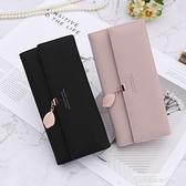長夾 卡包錢包皮夾2021新款日韓簡約時尚長款女士折疊多功能大容量手拿 萊俐亞