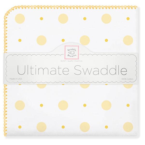 美國多用途法蘭綿絨包巾(厚): 黃色點點: SD-492Y