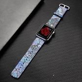 錶帶 蘋果apple watch3手錶錶帶皮質iwatch2/1中國風民族圖騰腕帶男42