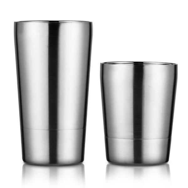 onlycook創意雙層水杯不銹鋼口杯啤酒杯防燙