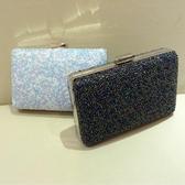 凱蒂熊代購-彩珠硬盒方形包鏈條包女包晚宴包復古風錢包小包手拿包包