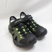 LOTTO 冒險家排水護趾涼鞋 拖涼鞋 LT1AMS3235 男款 軍綠色 整數碼【iSport愛運動】