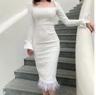 (45 Design) 連衣裙禮服長洋裝短袖洋裝連身裙婚禮洋裝蕾絲洋裝雪紡洋裝套裝長袖洋裝16
